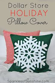 how to make the easiest dollar store holiday pillow cover