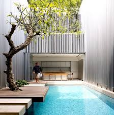 House With Swimming Pool Minimalist White House Design Home Design And Home Interior