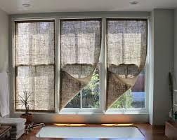 Burlap Drapery Burlap Curtains Etsy
