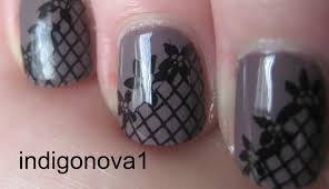 simple konad lace stamping nail art tutorial using plate m57 youtube