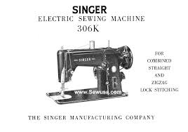 singer 306 k instruction manual
