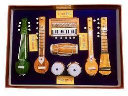 Home Decoration Items Online by Buy Utsav Kraft Brass Antique Musical Instruments Showpiece Set Of
