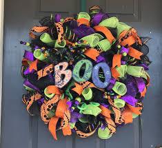 halloween wreath front door decor deco mesh halloween decoration