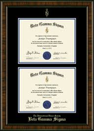 document frame beta gamma sigma document certificate frame in brentwood
