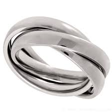 russian wedding band russian wedding ring made from 3 x titanium bands