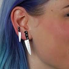 grunge earrings knife earrings grunge earrings earrings alternative