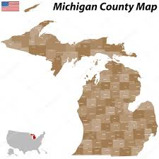 Michigan Counties Map Michigan County Map U2014 Stock Vector Malachy666 49747011