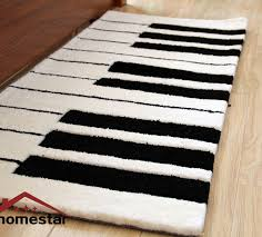 Black And White Floor Rug Piano Rug Roselawnlutheran