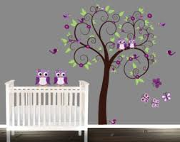 Purple Wall Decals For Nursery Nursery Wall Decals Boys Or Tree Decal Owl Tree
