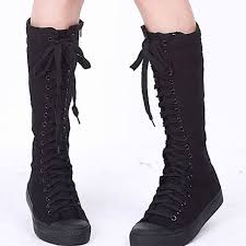 s high boots sale sale s canvas boots lace zip knee high boots boots