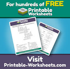 crosswords printable worksheets