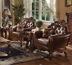 Accent Chair Set Of 2 3 Piece Accent Chair Set In Cherry Finish By Acme 52003 S