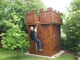 outdoor castle playhouse pics home project ideas pinterest