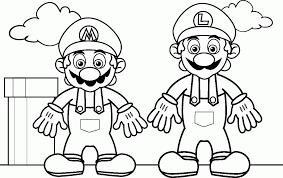 mario bros coloring book coloring