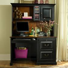 place a desk with a hutch and a wing in a room decorative furniture