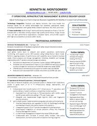 Resume It Sample by Cio Com It Resume Makeover It Tech Exec