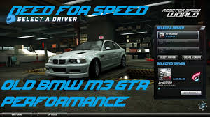 Bmw M3 Old - need for speed world old bmw m3 gtr performance and overview map