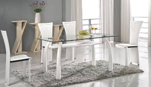 clear dining room chairs facelift high class rectangular clear glass top dining table and