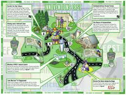 Map Of Epcot Epcot Innoventions Guidemaps