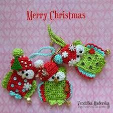 crocheted christmas christmas crochet projects crochet christmas owl ornament