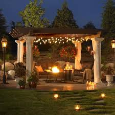 Backyards With Gazebos by A Very Nice Outdoor Patio Setup With A Huge Pergola By Outdoor