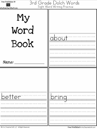 my word book third grade dolch sight words writing practice a