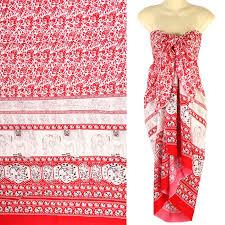 hawaiian pattern skirt pattern sarong pareo skirt dress wrap cover up beach red sa131r