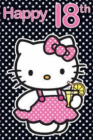 hello kitty age 18 birthday card