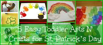 lily u0026 frog friday 5 5 easy toddler arts n u0027 crafts for st