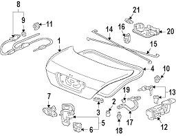 2006 honda accord trunk latch assembly parts com honda lock trunk partnumber 74851sdaa22