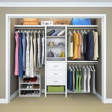 closet organizer home depot closetmaid impressions 25 in w white standard closet kit 14865