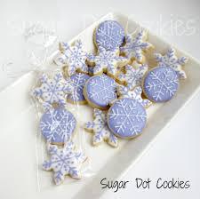 snowflake sugar cookies sugar dot cookies snowflake mini sugar cookies with royal icing