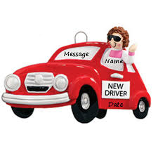 buy new driver car personalized ornament from a large