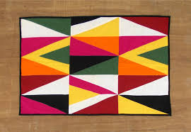 kilim patch rug patchwork geometrical multicolored 100 cotton