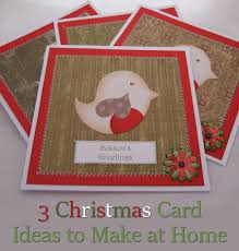 3 cute christmas greeting card ideas to make