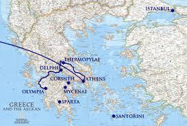 Corinth Greece Map by