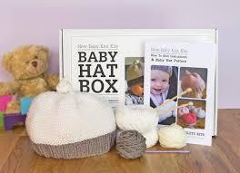 baby hat beginner knitting kit gift knitting needles learn to