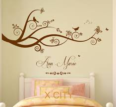 online get cheap names girl aliexpress com alibaba group tree birds butterflies children girl personalised name vinyl wall decal art decor sticker kids bedroom stencil
