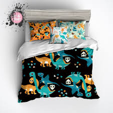 Dinosaur Comforter Full Teal And Orange Dino Dinosaur Bedding Ink And Rags