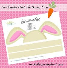 easter bunny hat free diy easter bunny ears party hat s party plan it