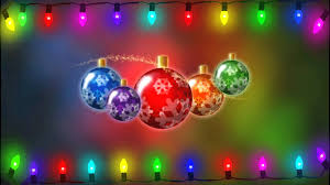 flickering christmas lights on christmas ornament background