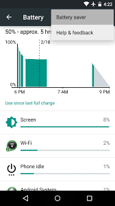 how to remove the orange bars in battery saver mode on android