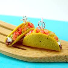 food earrings food earrings taco earrings fast food jewelry dangly earrings