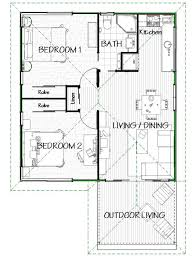 this a popular two bedroom design with open plan living and dining