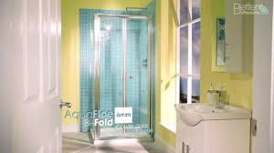 900 Bifold Shower Door by 900 Bi Fold Shower Door Enclosure U0026 Side Panel Youtube