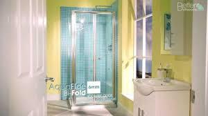 900 bi fold shower door enclosure u0026 side panel youtube