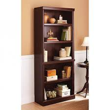 amazon com 5 shelf cherry bookcase wooden book case storage