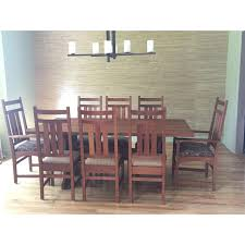 stickley mission cherry dining table u0026 8 chairs chairish