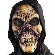 Skull Mask Halloween Hooded Bloody Skull Mask Reaper Zombie Horror Halloween Diablo