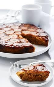 banana upside down cake gluten free vegan healthier steps